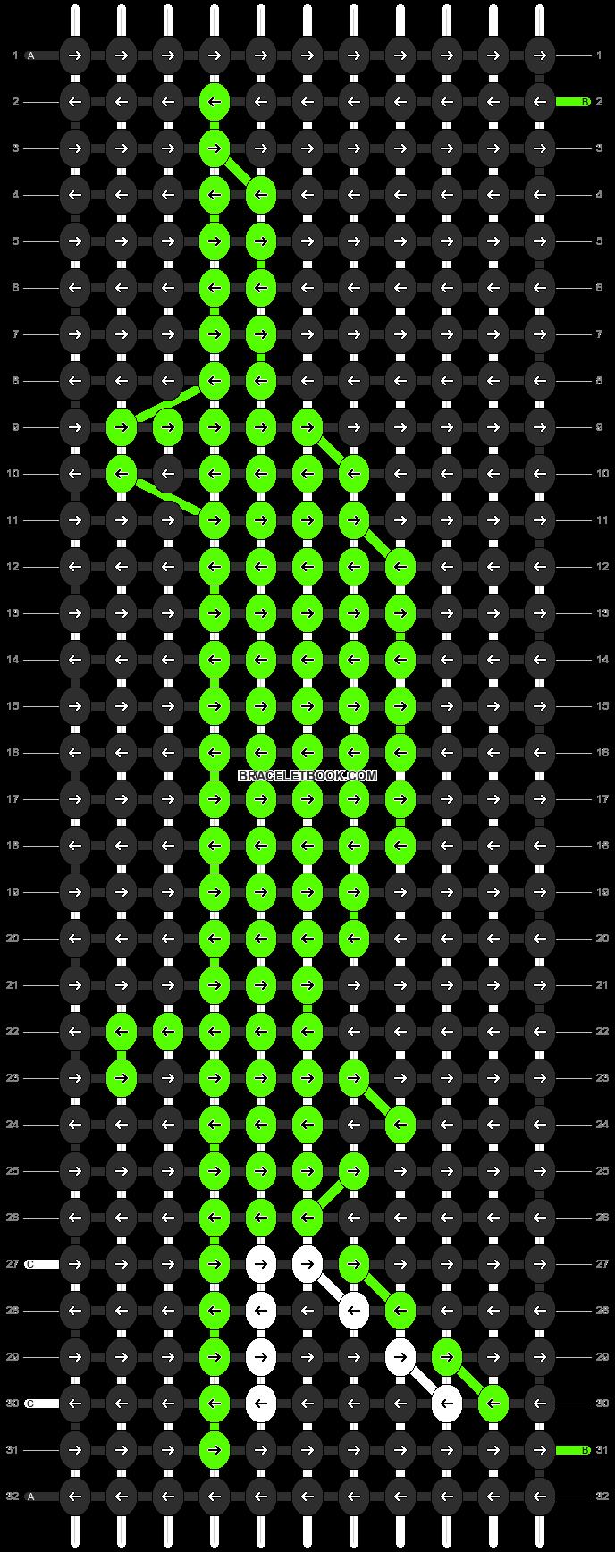 Alpha pattern #3910 pattern