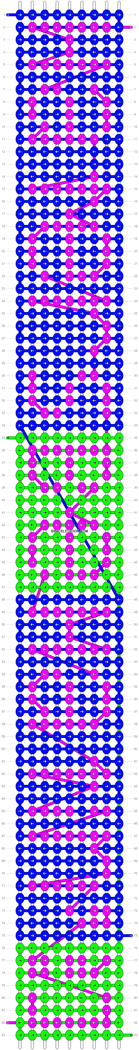 Alpha pattern #4008 pattern