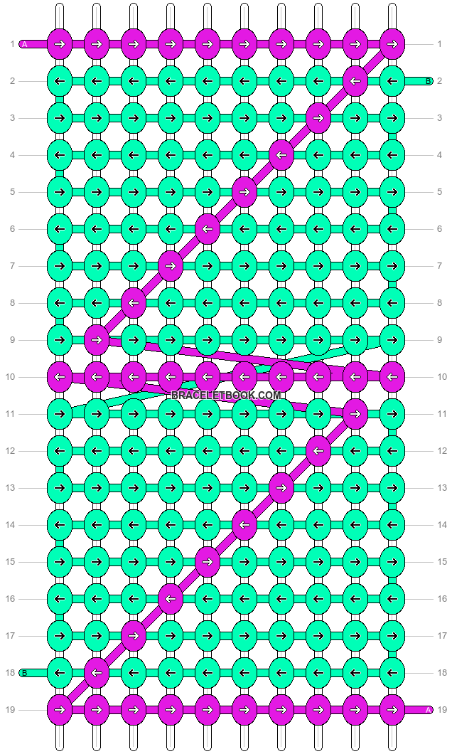 Alpha pattern #4021 pattern