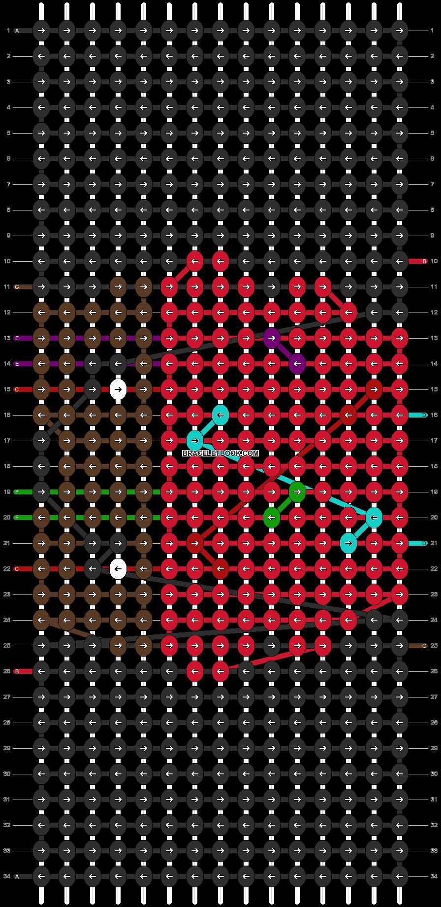 Alpha pattern #4053 pattern