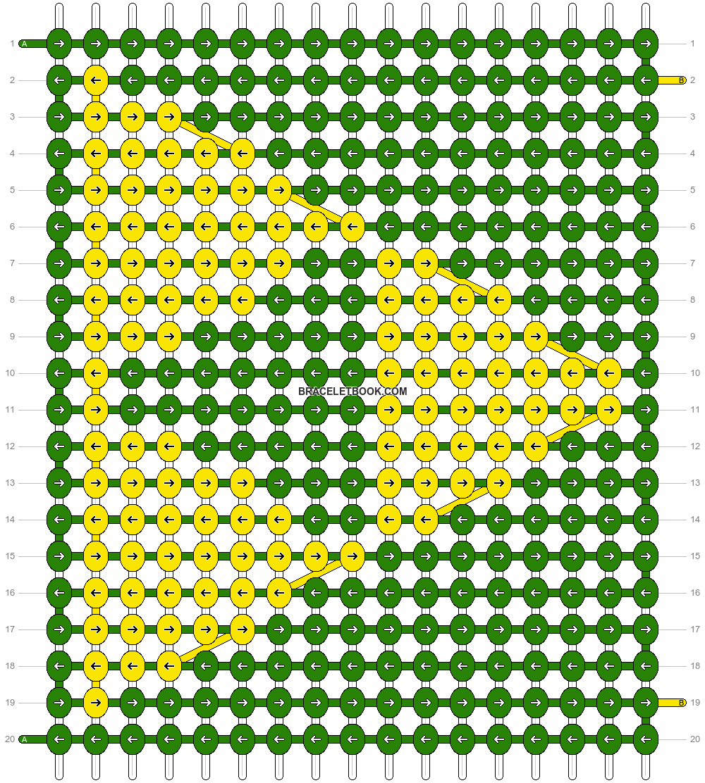 Alpha pattern #4071 pattern
