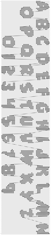 Alpha pattern #4126 pattern