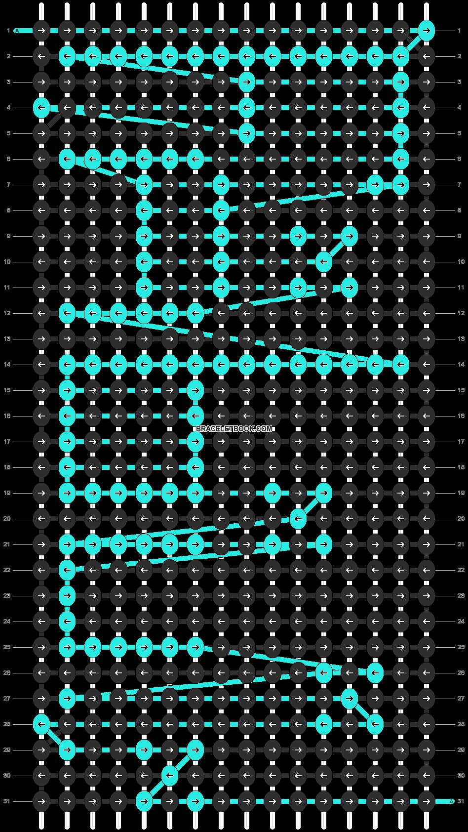Alpha pattern #4163 pattern