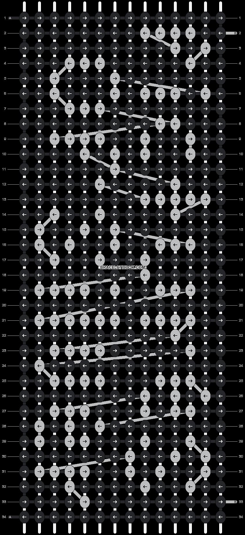 Alpha pattern #4210 pattern