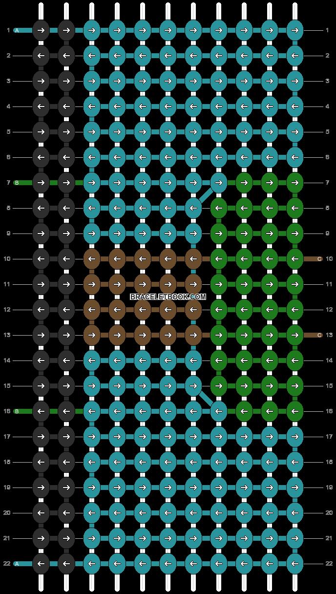 Alpha pattern #4255 pattern