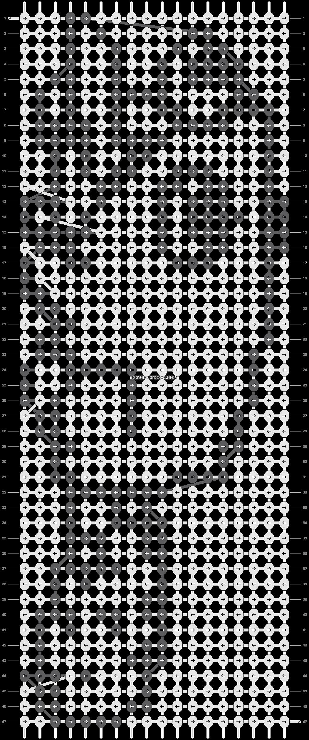 Alpha pattern #4342 pattern