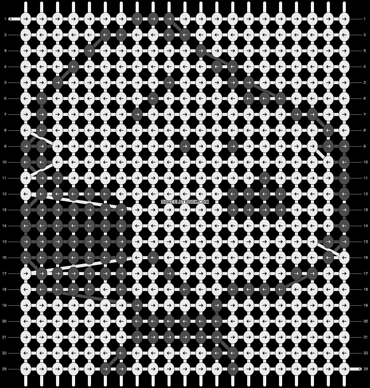 Alpha pattern #4344 pattern