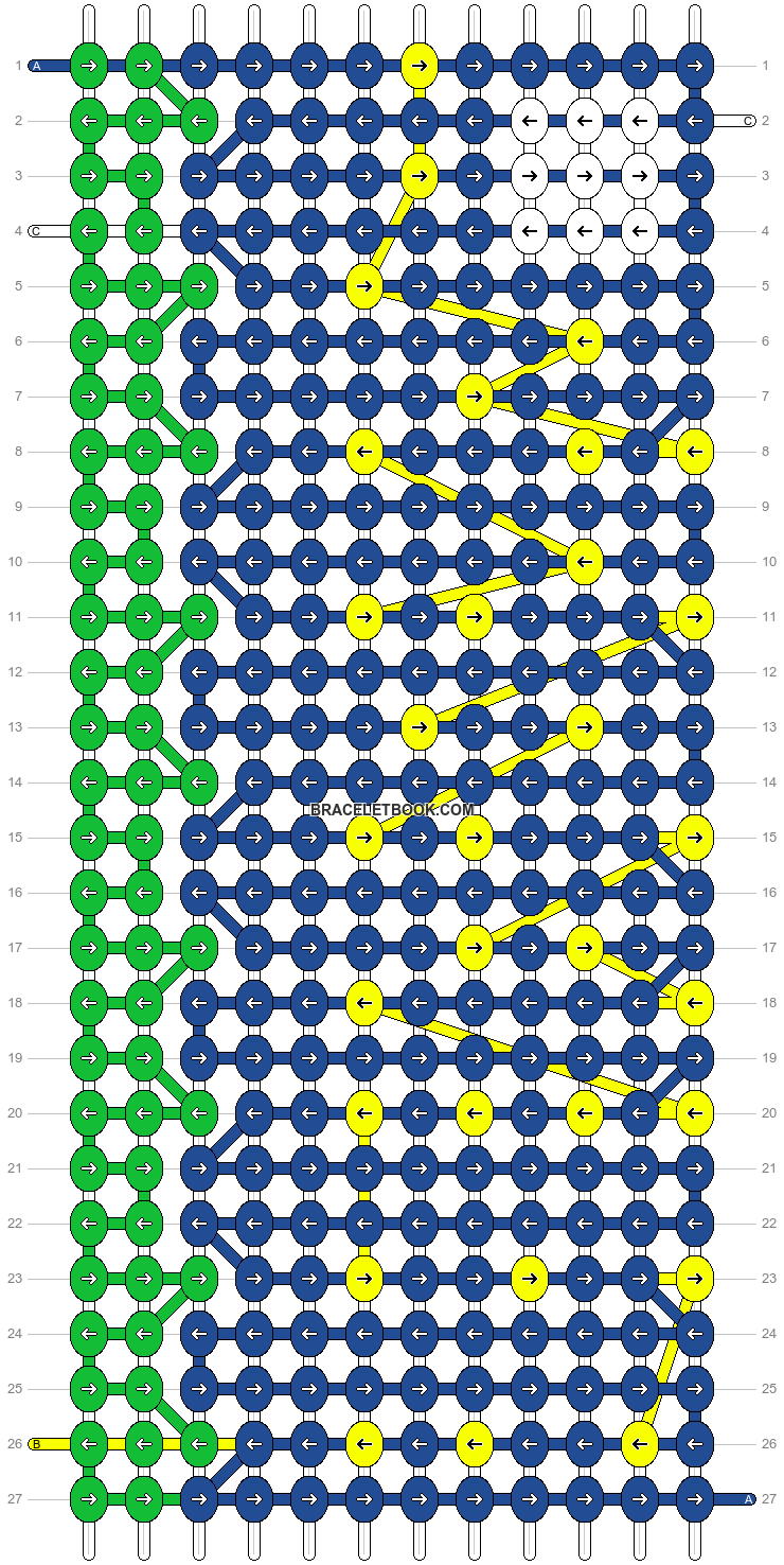 Alpha pattern #4407 pattern
