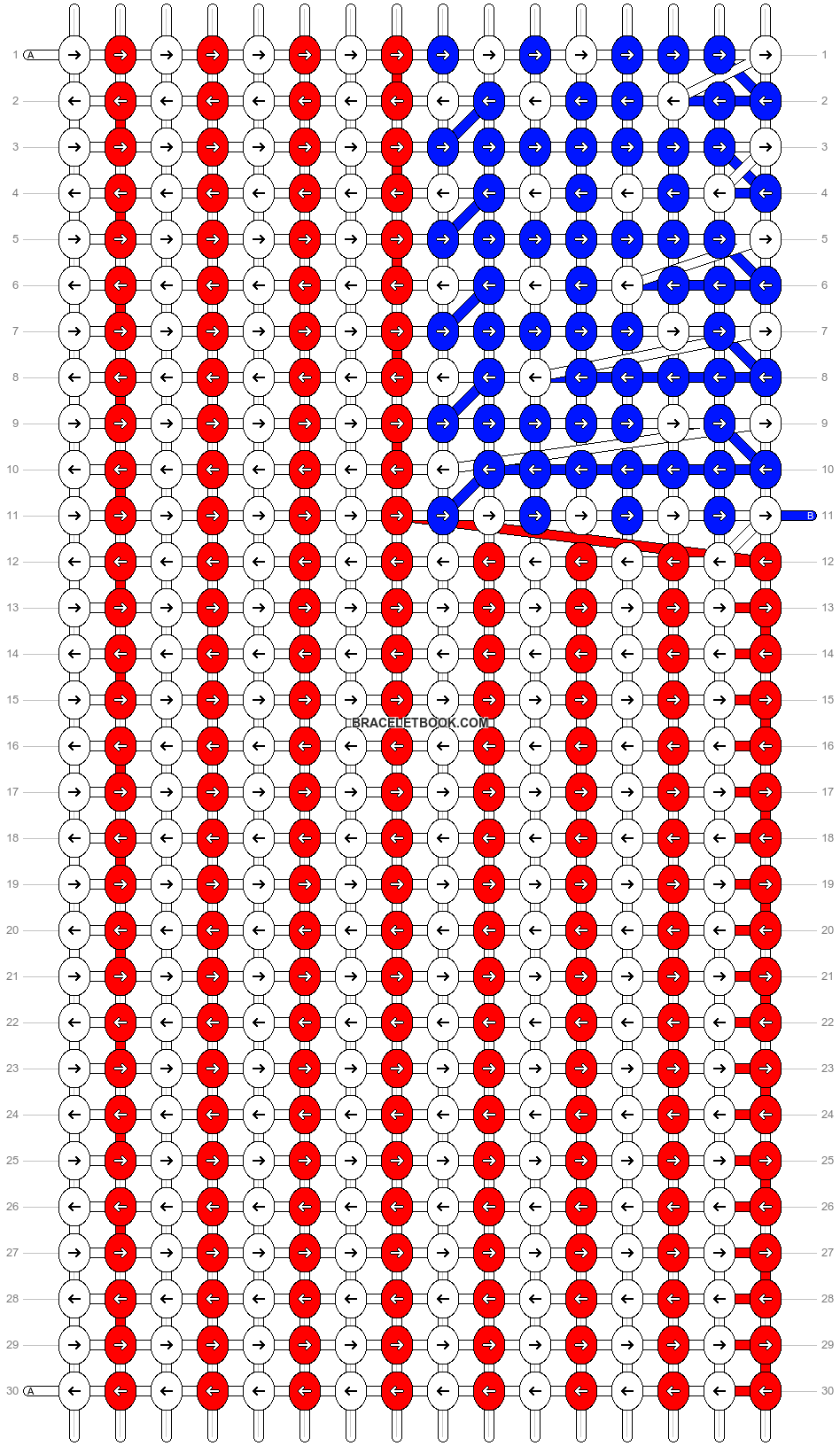 Alpha pattern #4411 pattern