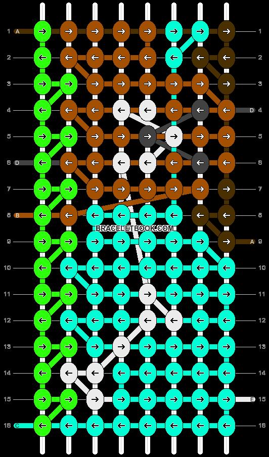 Alpha pattern #4443 pattern