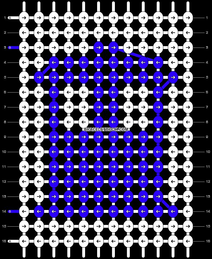 Alpha pattern #4472 pattern