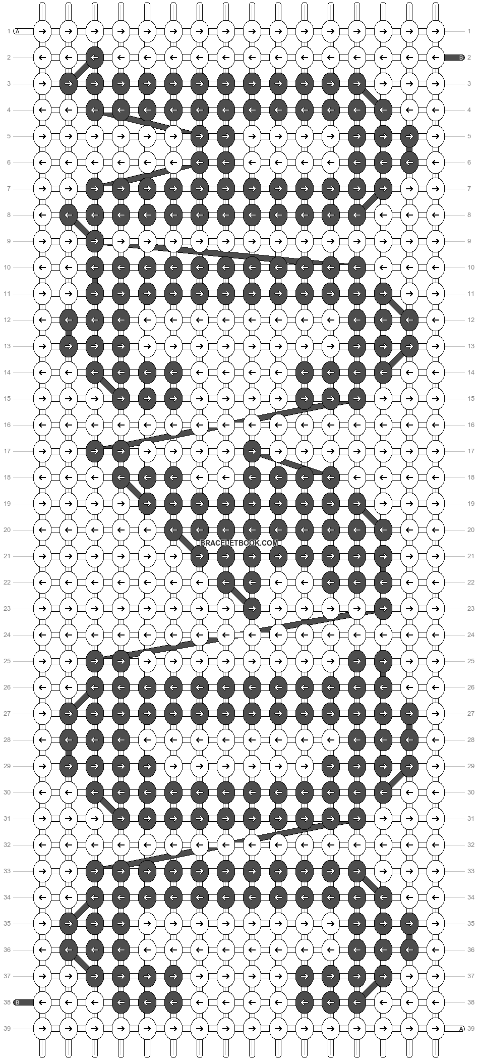 Alpha pattern #4486 pattern