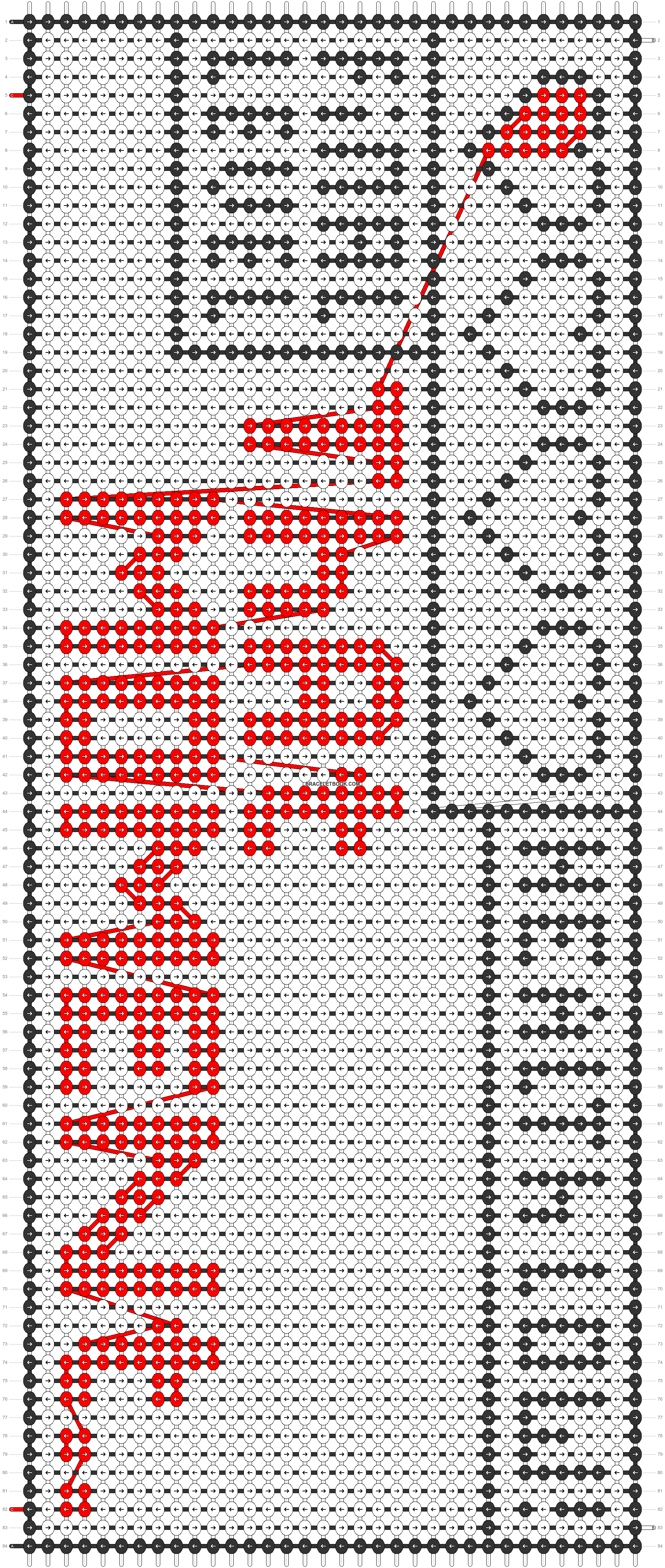 Alpha pattern #4494 pattern
