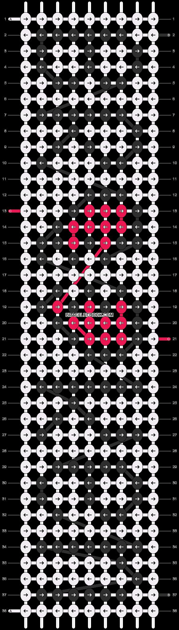 Alpha pattern #4516 pattern