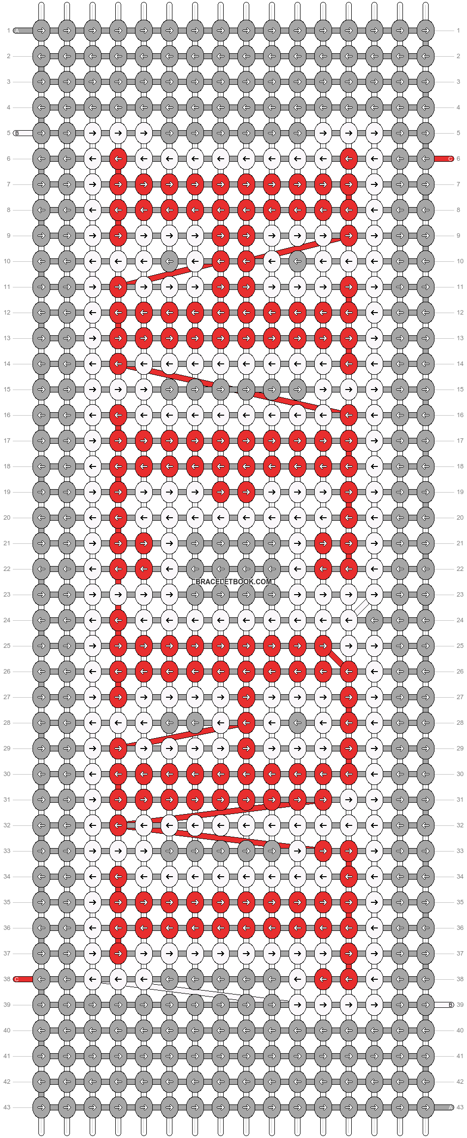 Alpha pattern #4550 pattern