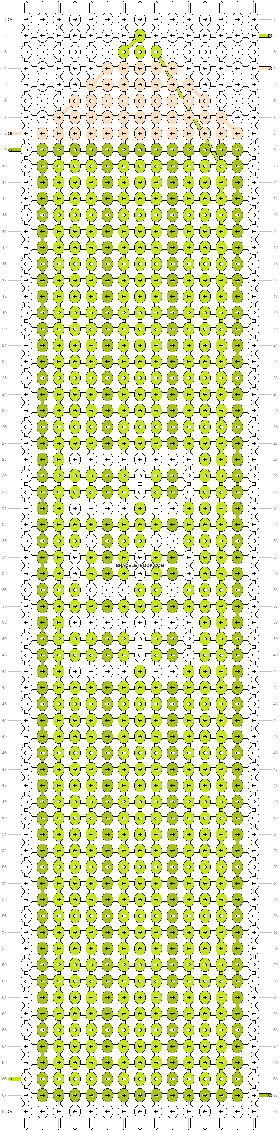 Alpha pattern #4607 pattern