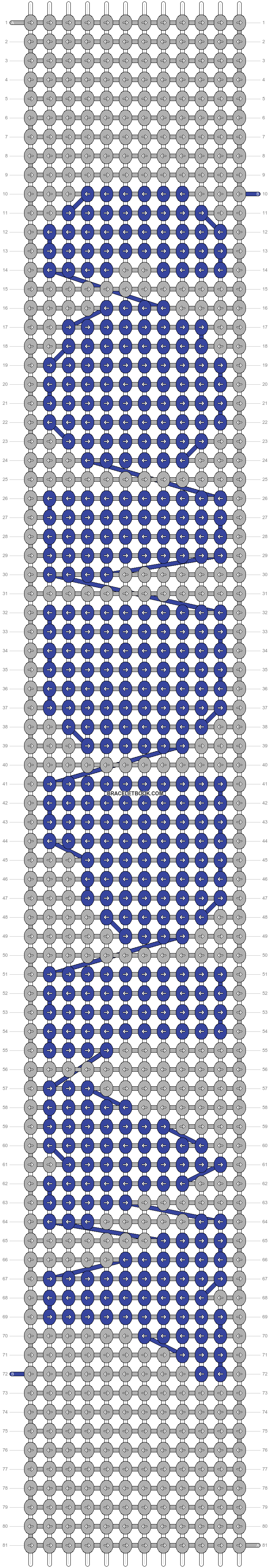 Alpha pattern #4610 pattern