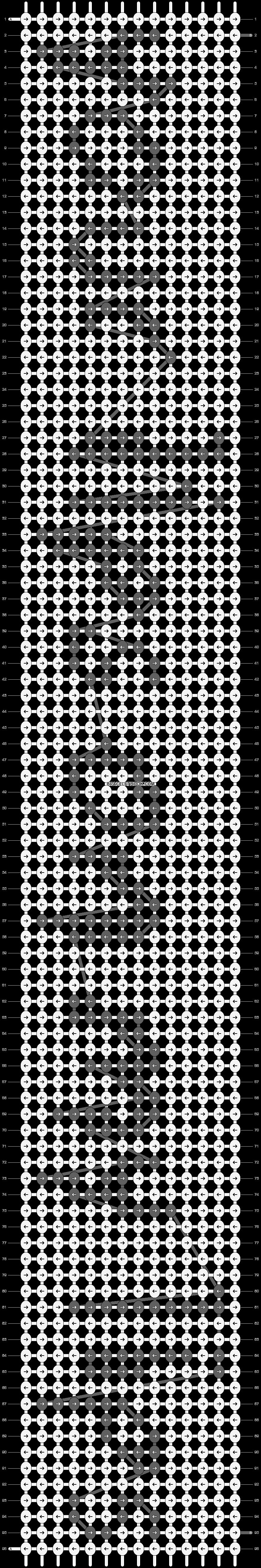 Alpha pattern #4626 pattern