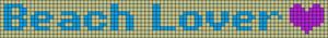 Alpha Friendship Bracelet Pattern #4781