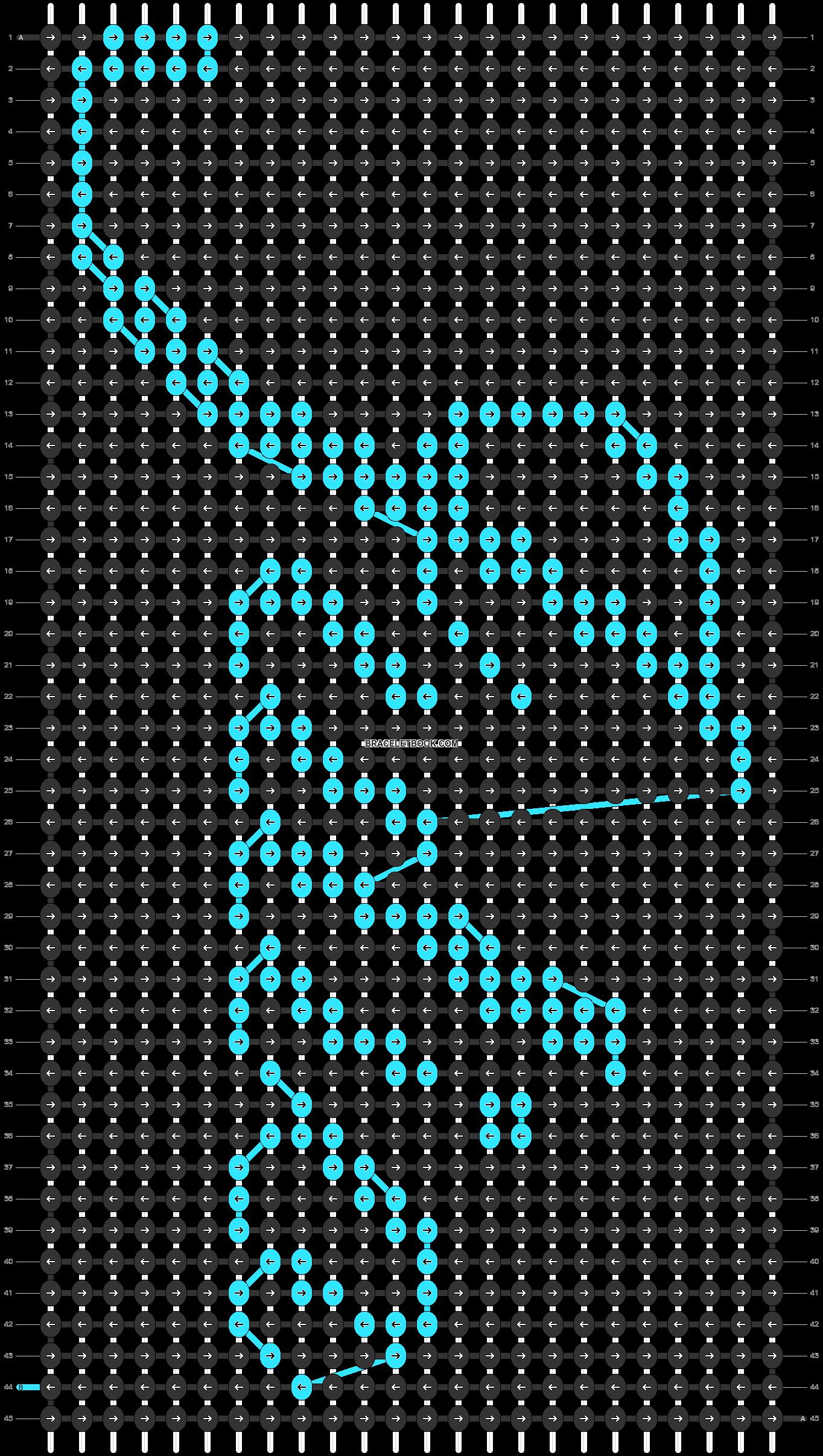 Alpha pattern #4813 pattern