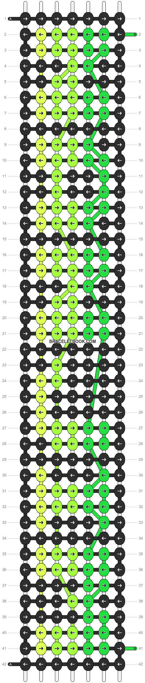 Alpha pattern #4860 pattern