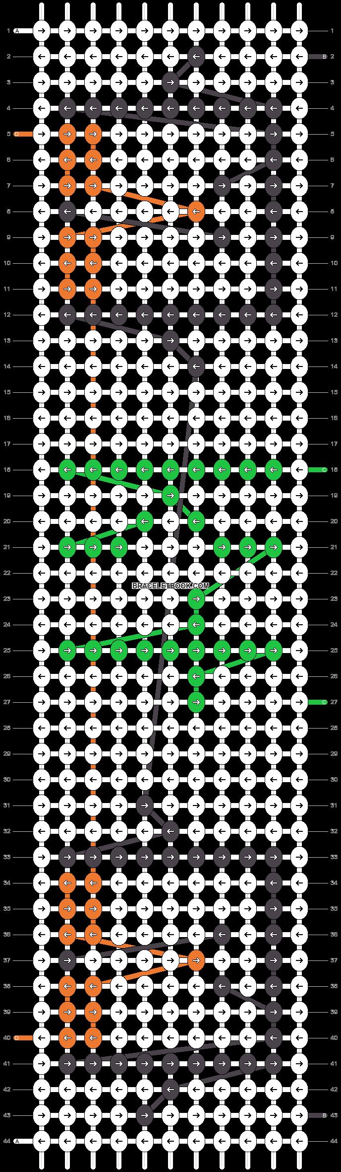 Alpha pattern #4864 pattern