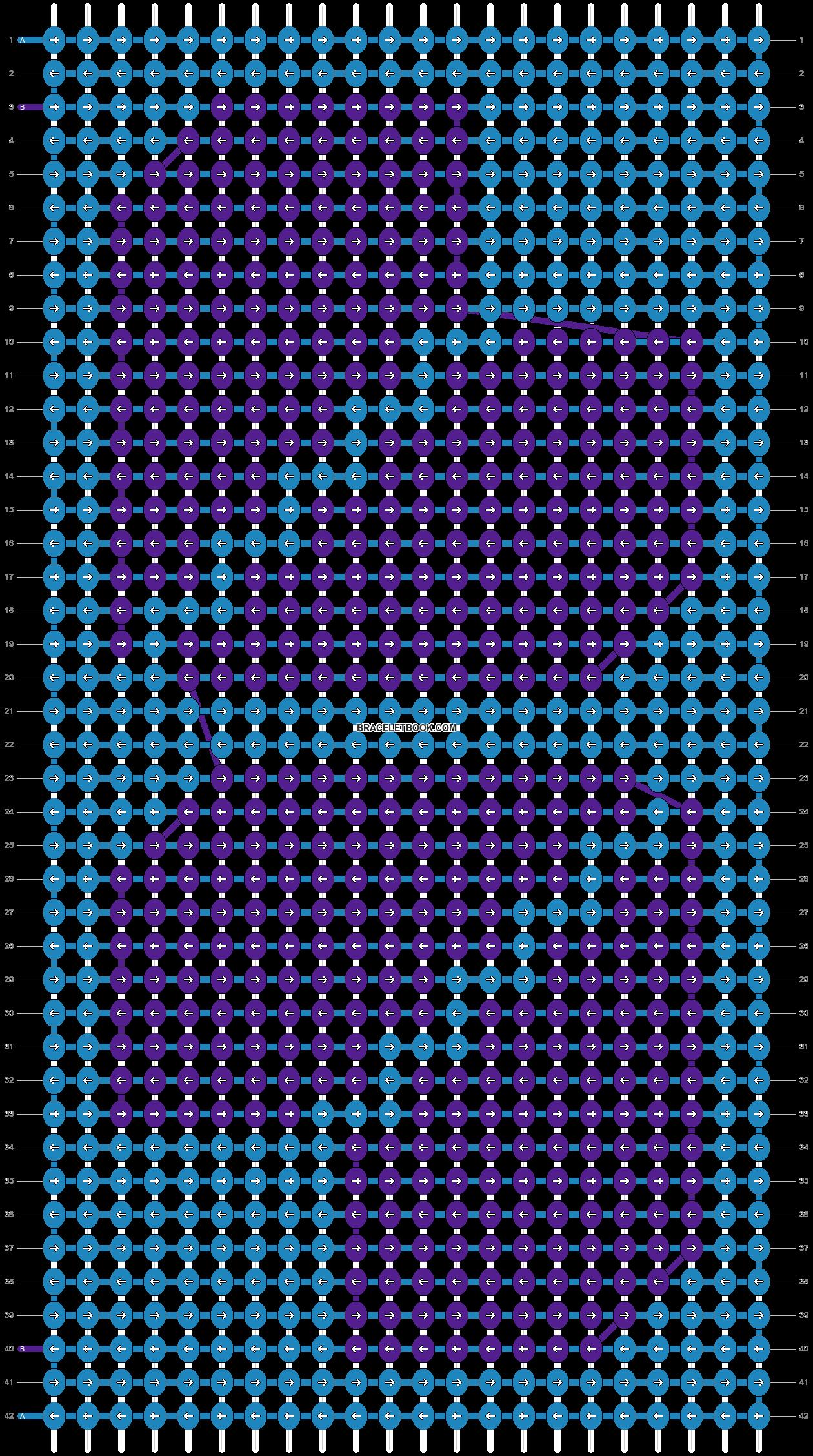 Alpha pattern #4884 pattern