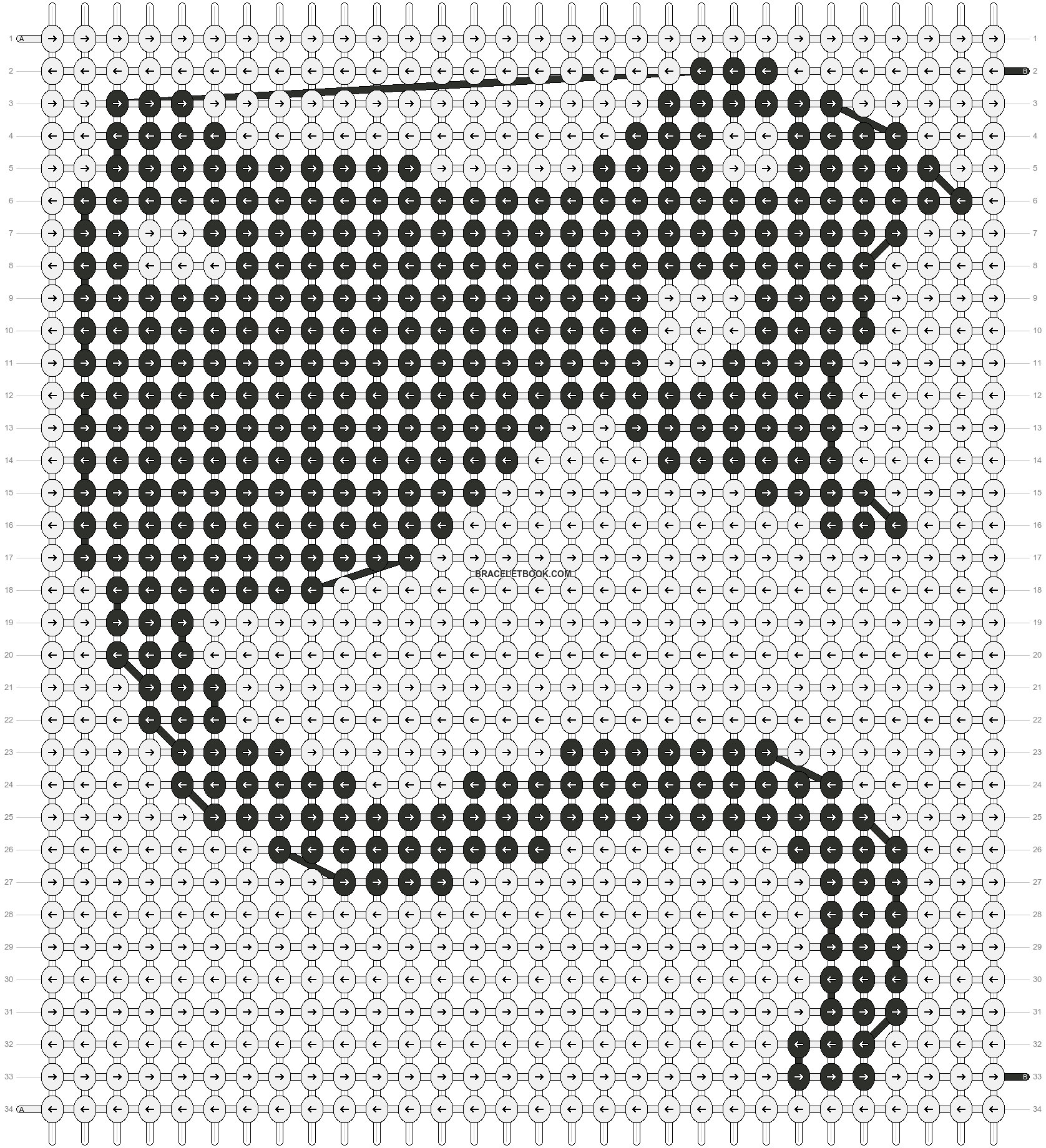 Alpha pattern #4888 pattern