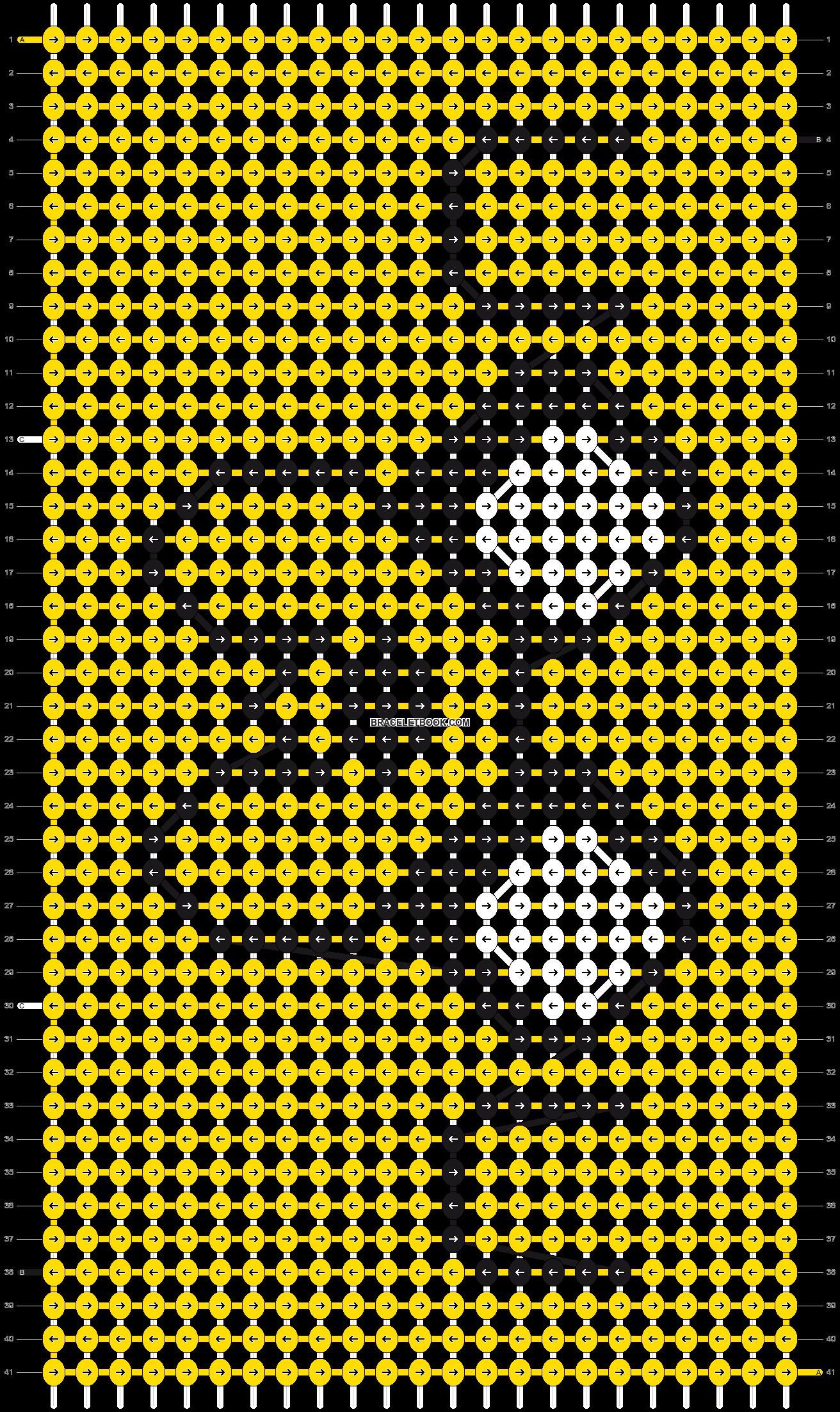 Alpha pattern #4889 pattern