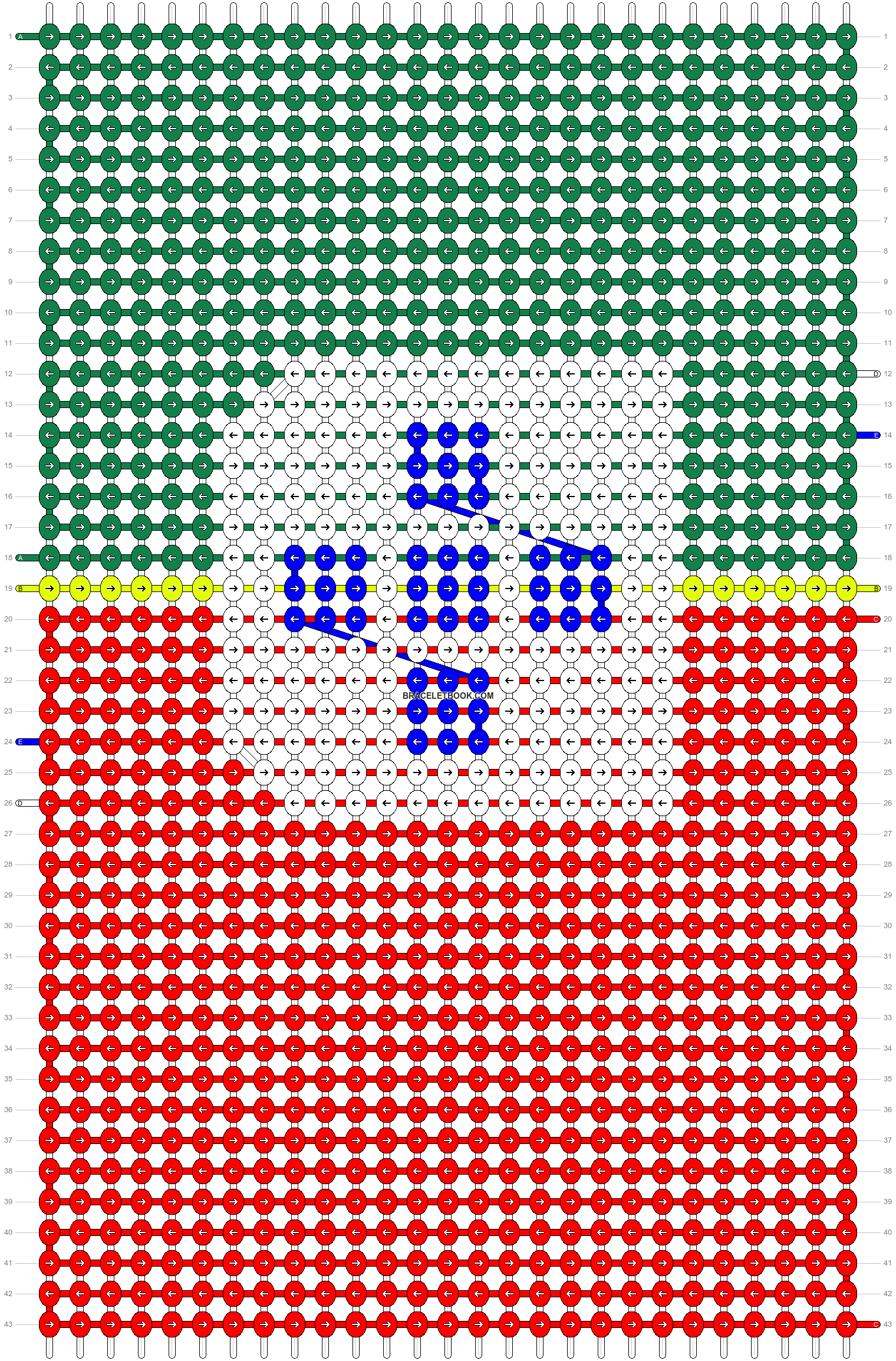 Alpha pattern #4939 pattern