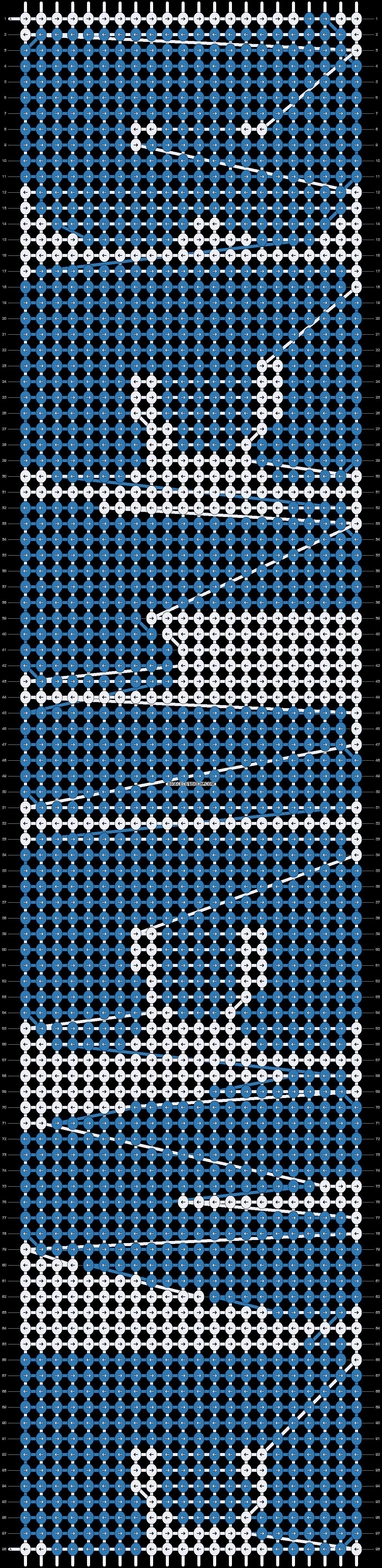 Alpha pattern #4945 pattern