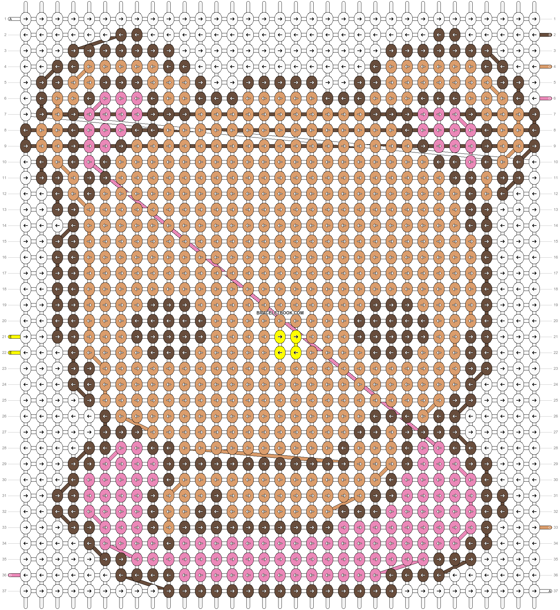 Alpha pattern #4990 pattern