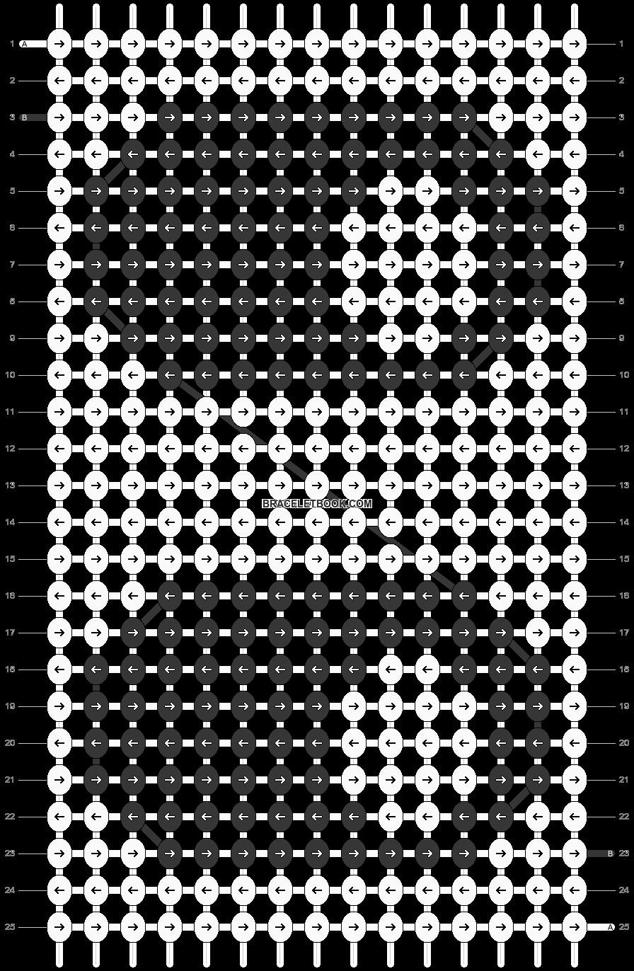 Alpha pattern #5019 pattern