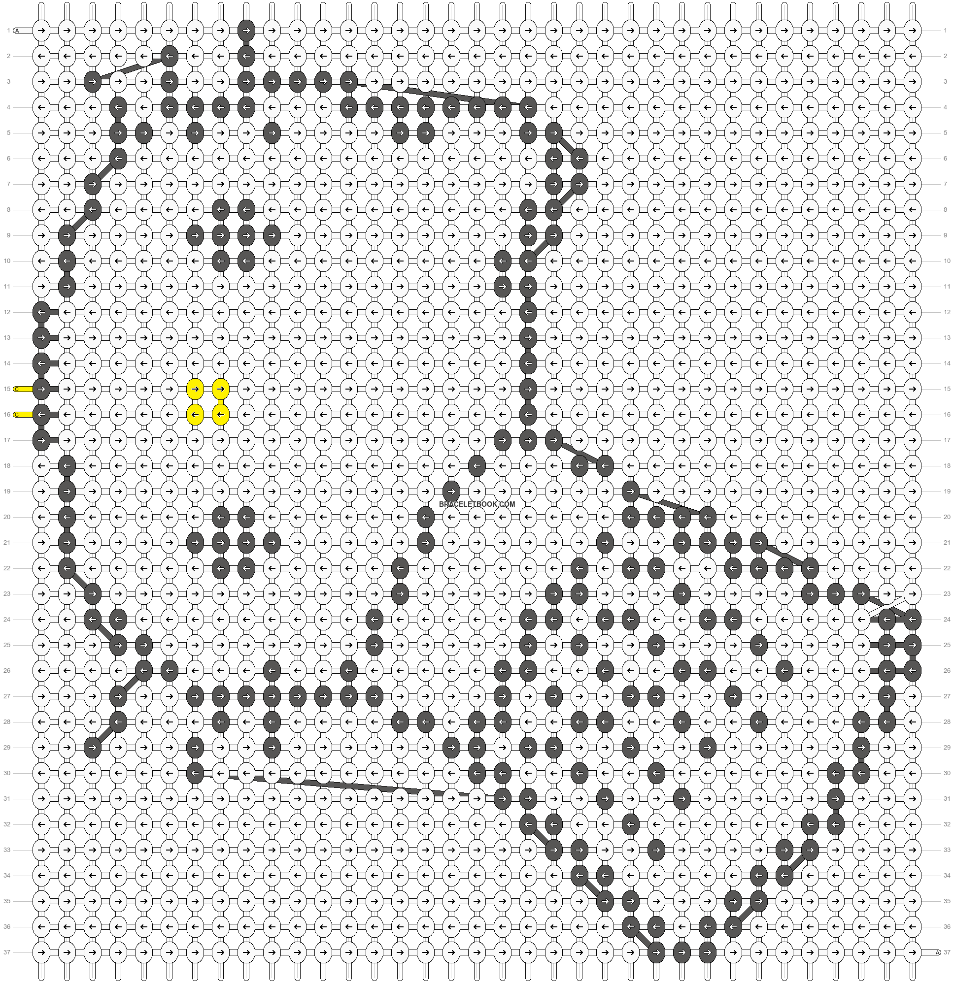 Alpha pattern #5033 pattern