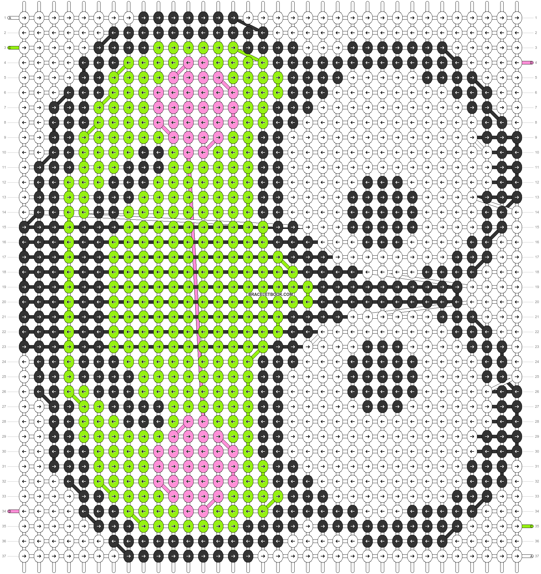 Alpha pattern #5043 pattern