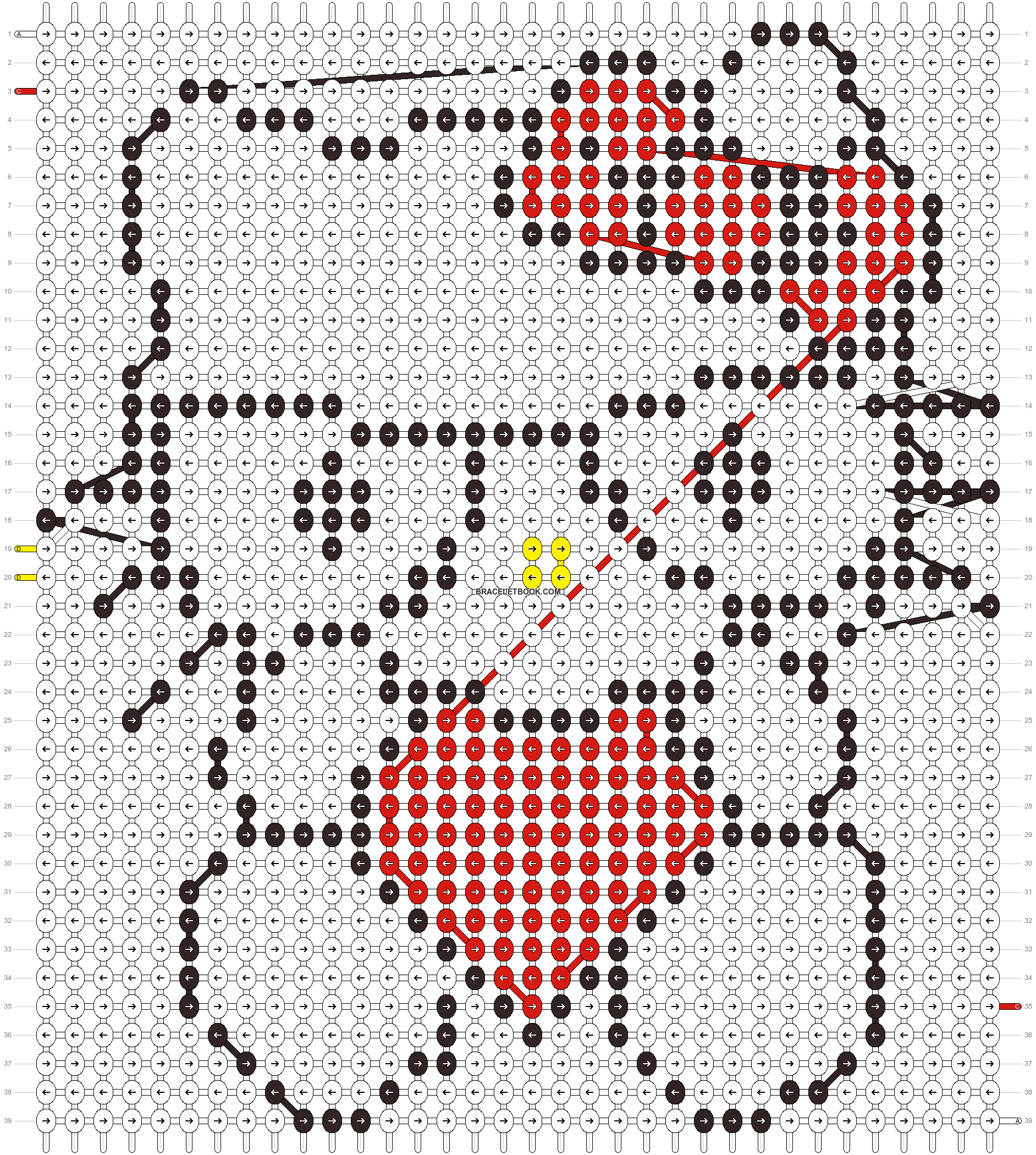 Alpha pattern #5075 pattern