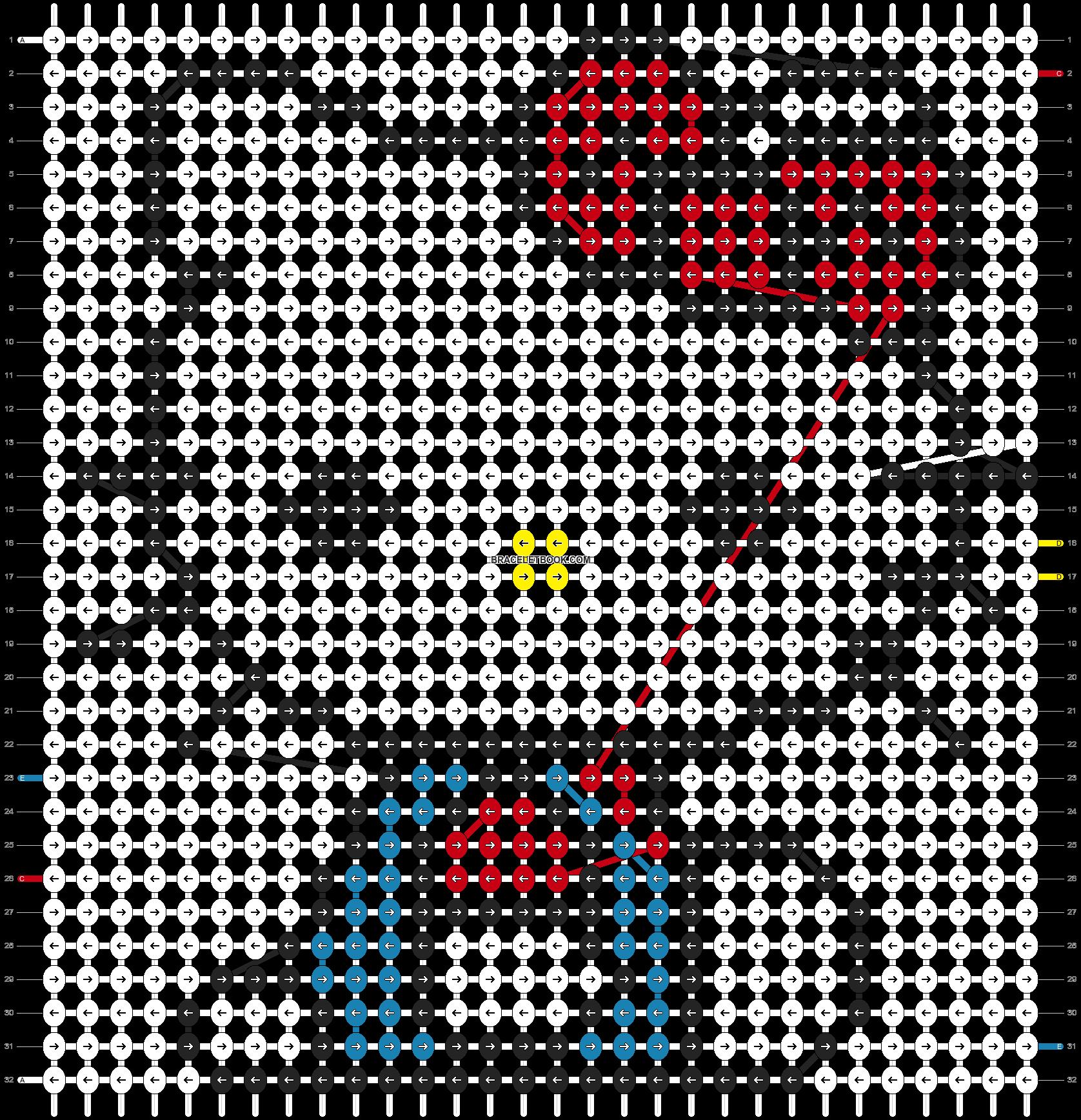 Alpha pattern #5076 pattern
