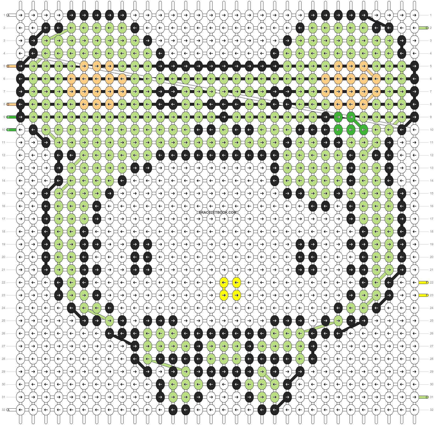 Alpha pattern #5084 pattern