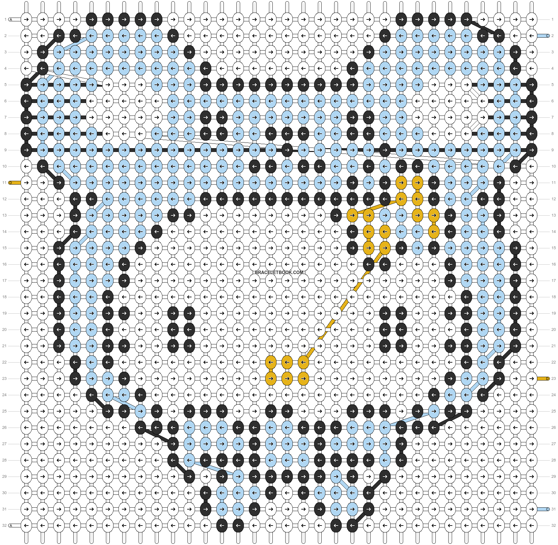 Alpha pattern #5086 pattern