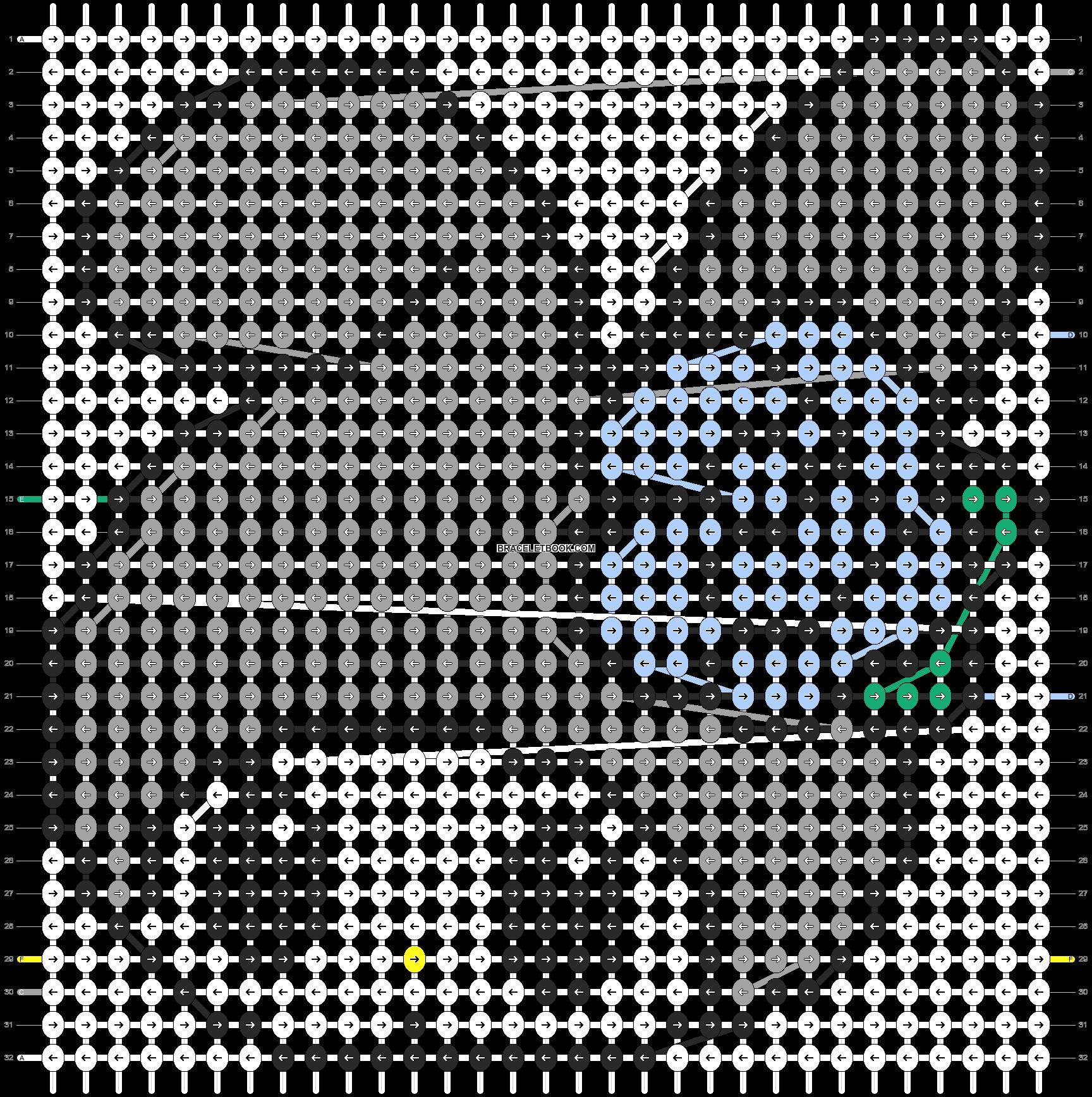 Alpha pattern #5124 pattern
