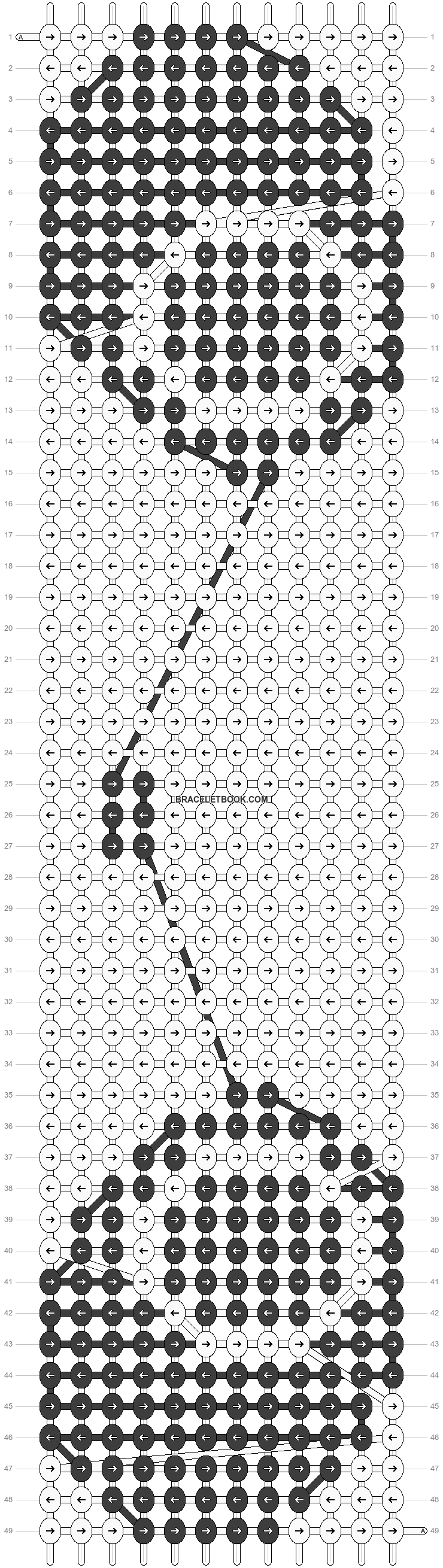 Alpha pattern #5156 pattern