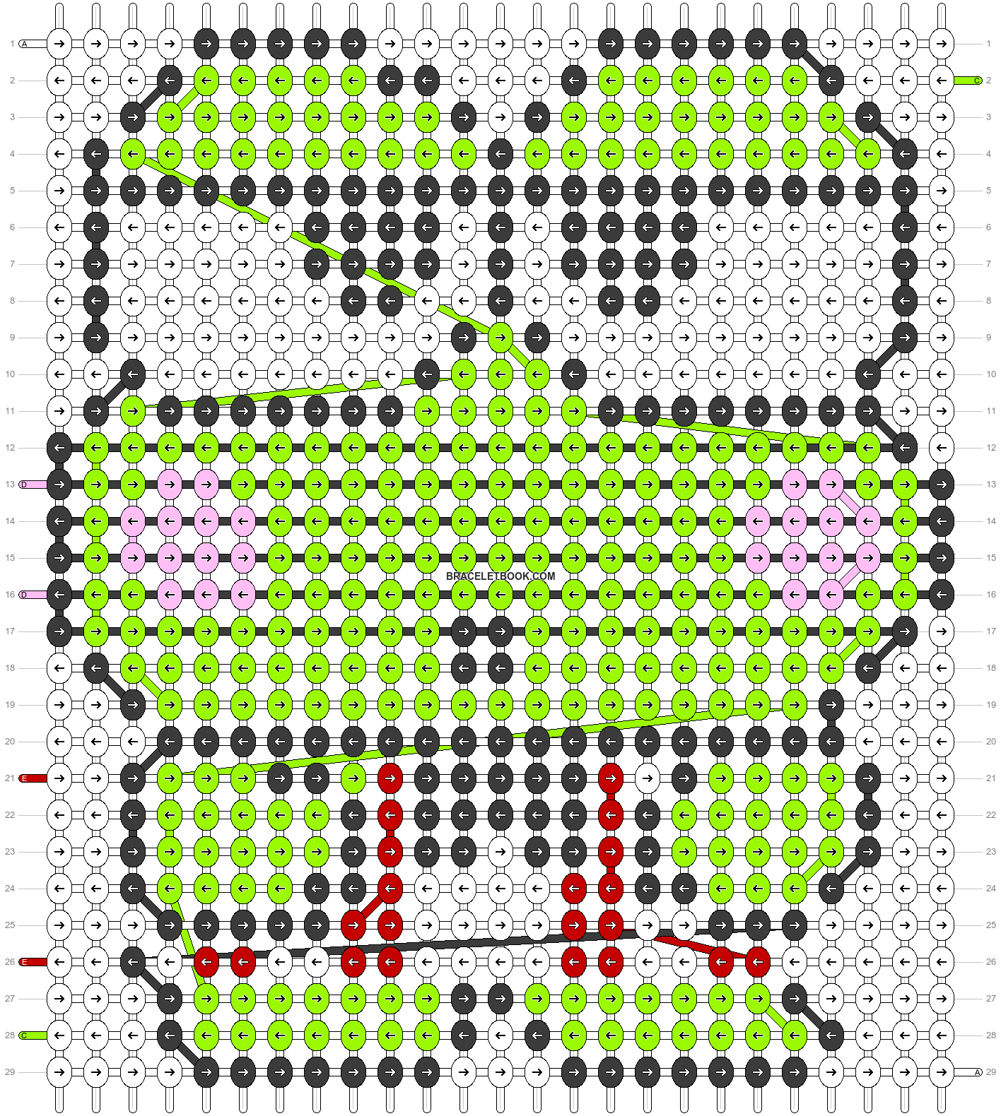 Alpha pattern #5444 pattern
