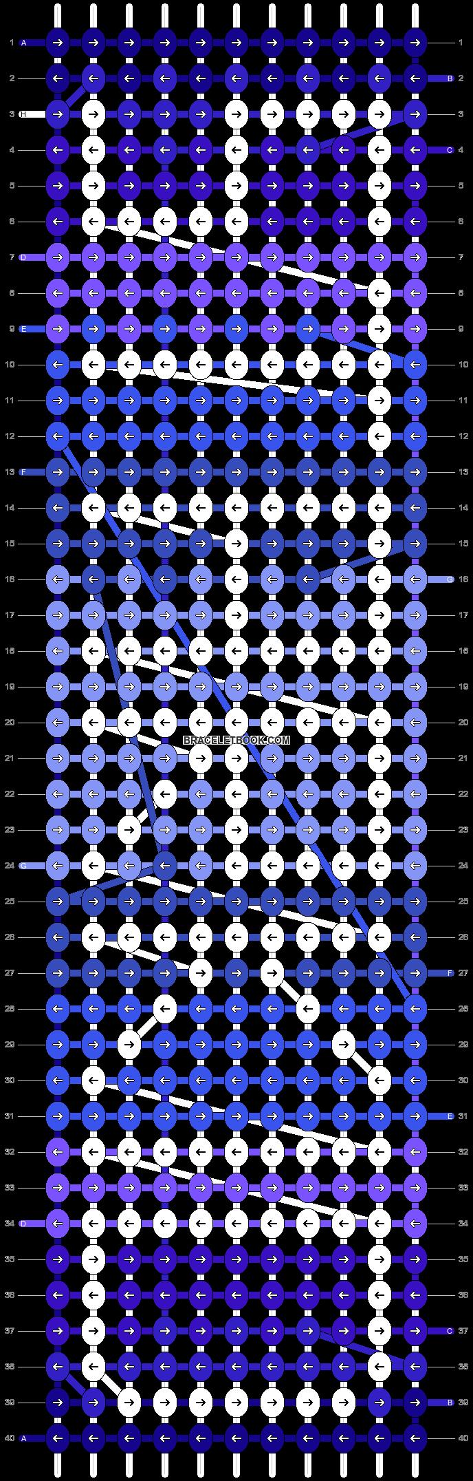 Alpha pattern #5468 pattern