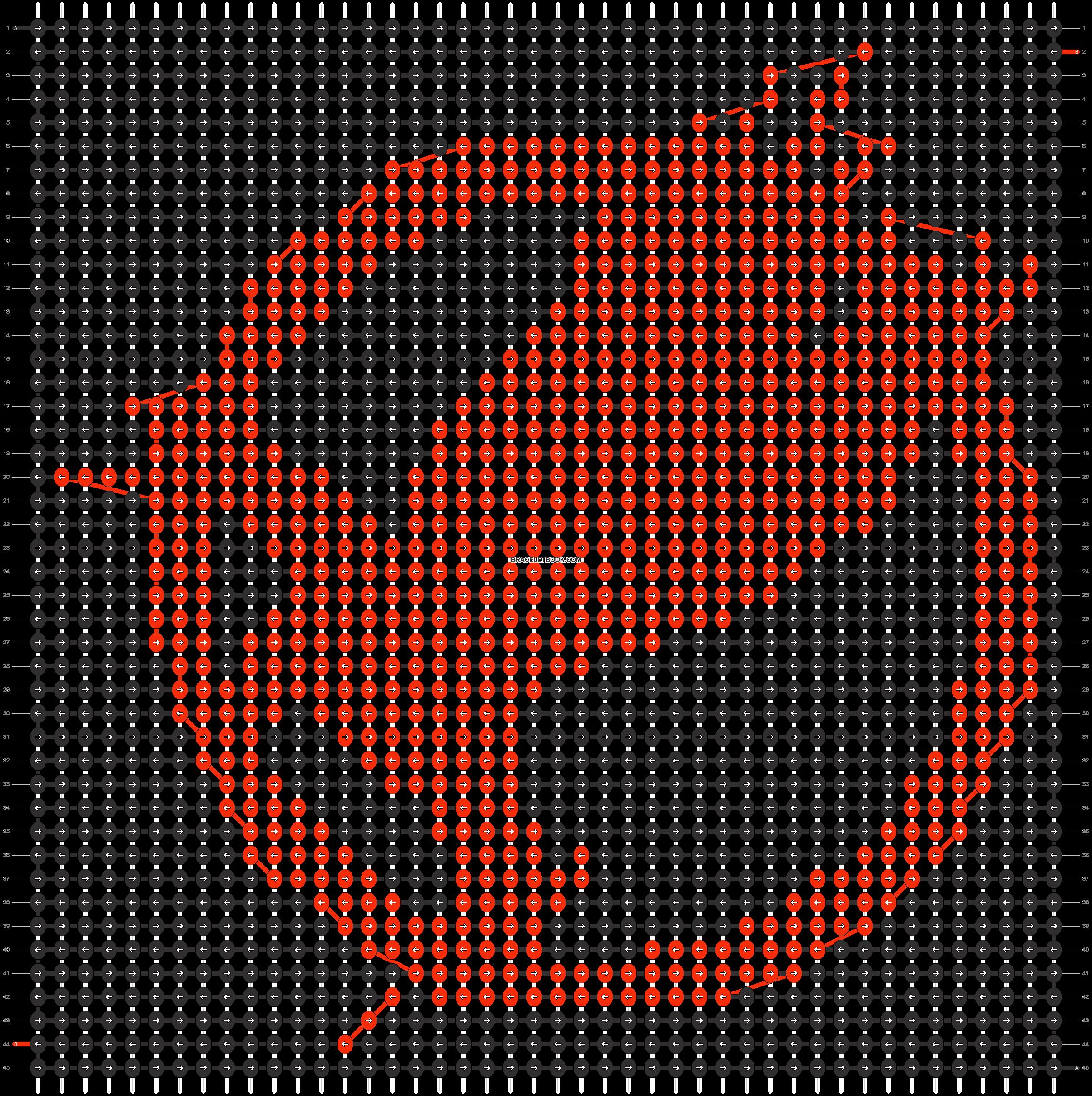 Alpha pattern #5480 pattern