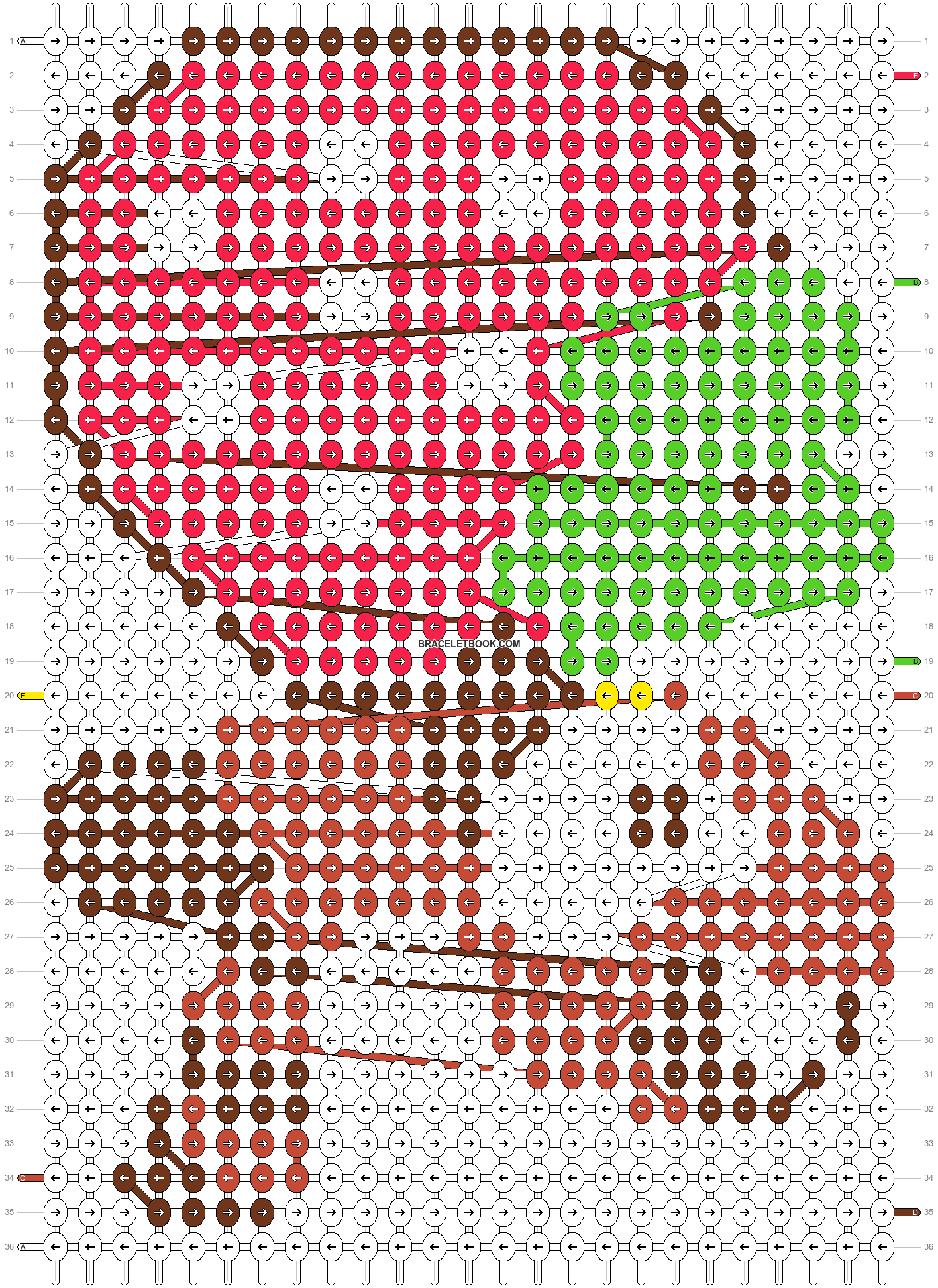 Alpha pattern #5490 pattern