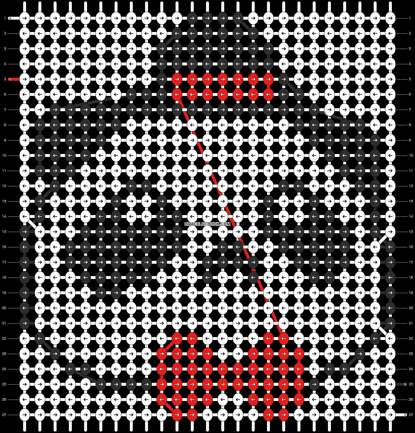 Alpha pattern #5521 pattern