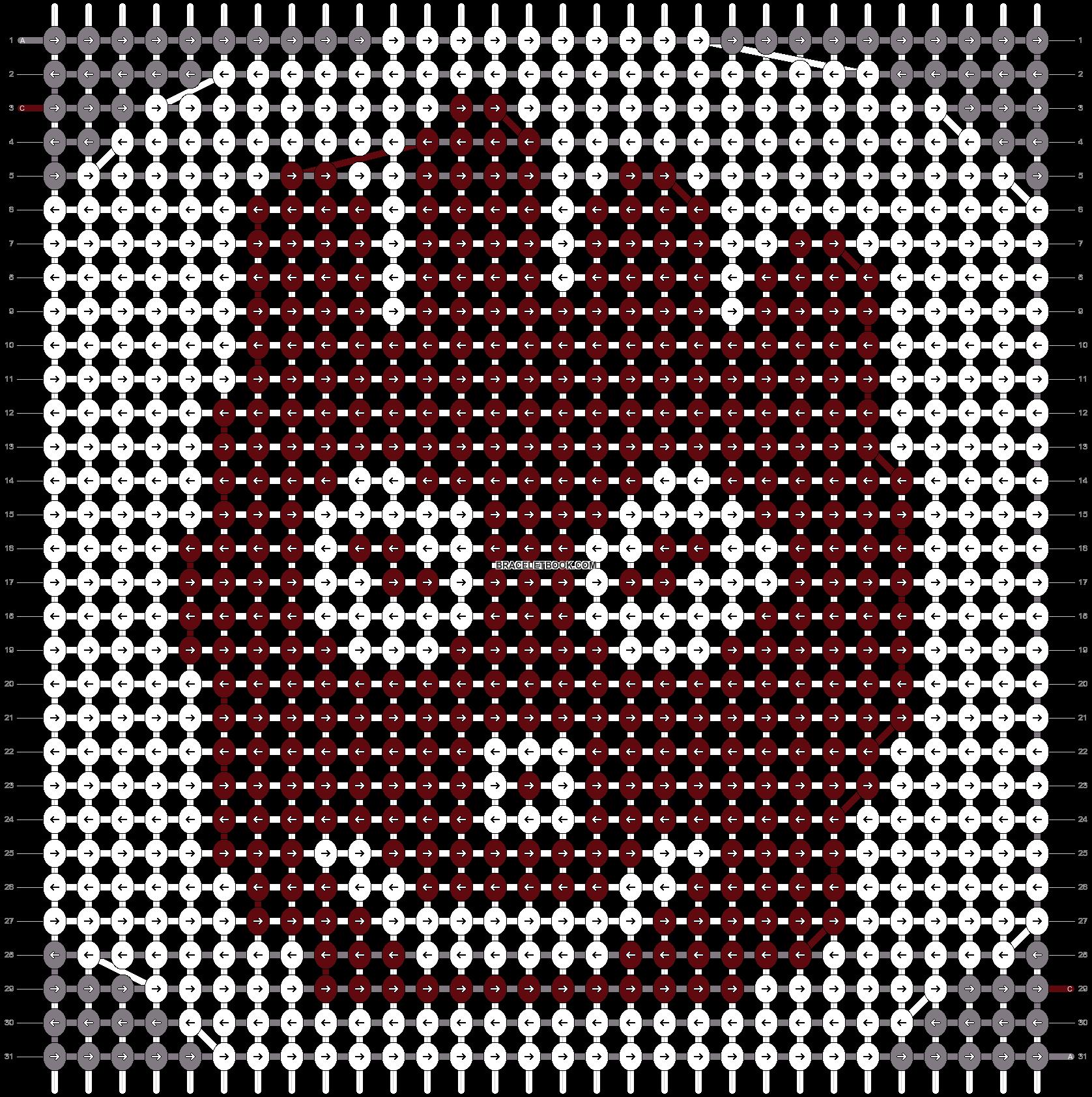 Alpha pattern #5524 pattern