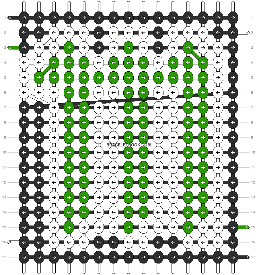 Alpha pattern #5526 pattern