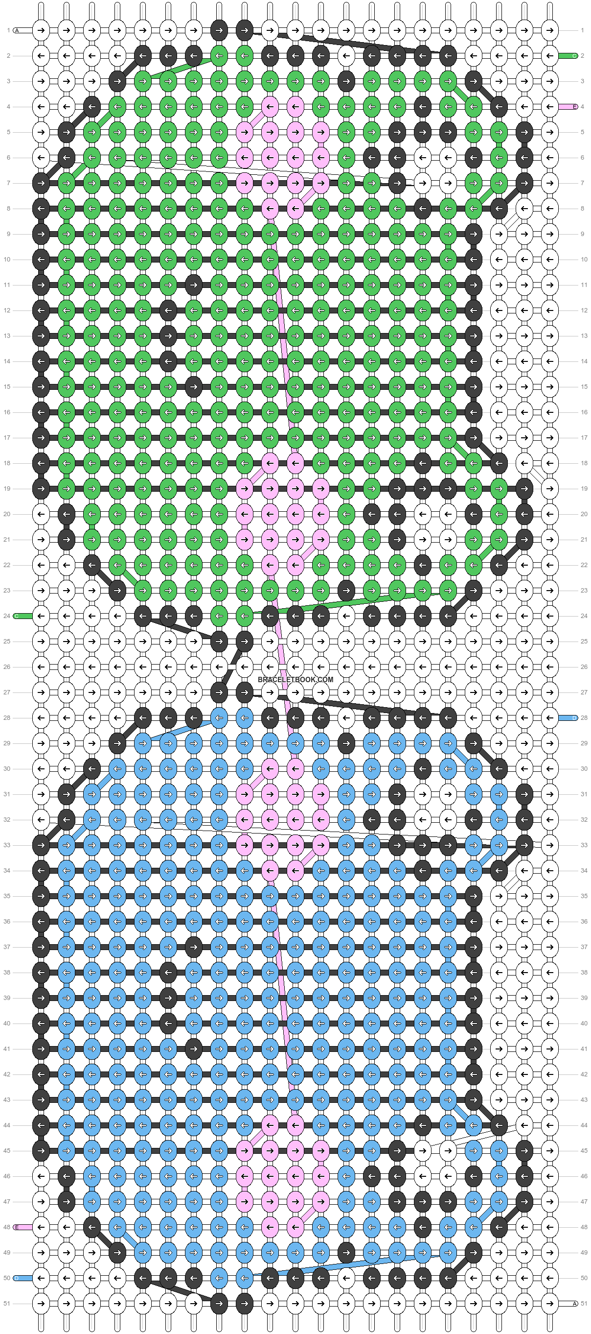 Alpha pattern #5542 pattern