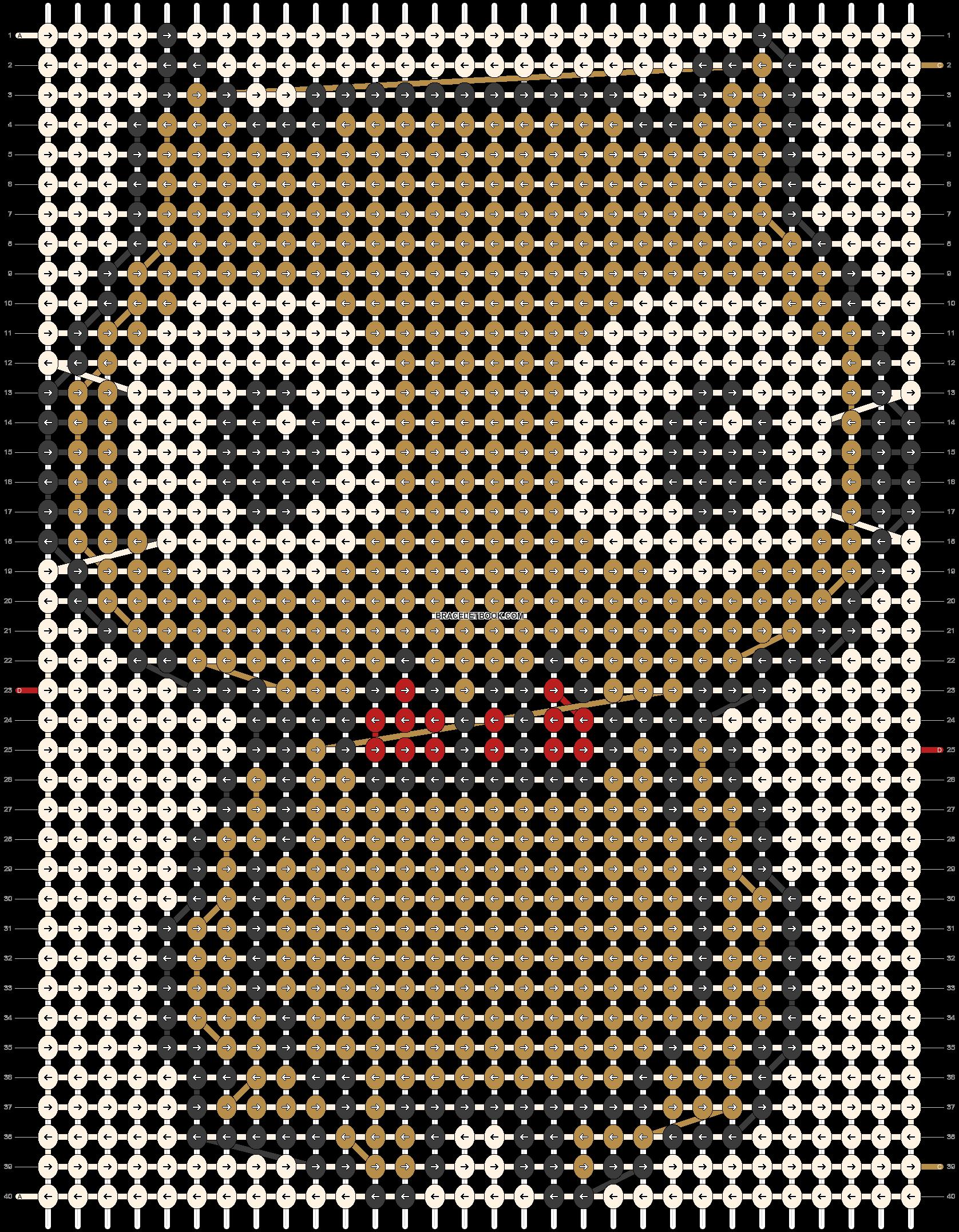 Alpha pattern #5556 pattern